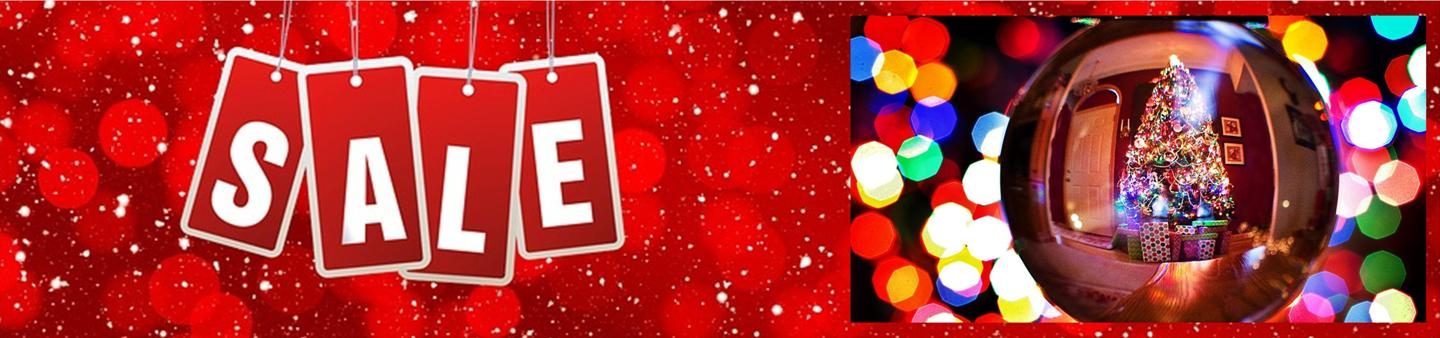 NEW YEAR SALE - UP TO HALF PRICE ON CHRISTMAS DECORATIONS & LIGHTS
